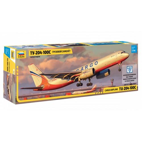 ZVD-7031 1/144 Tupolev Tu-204-100S Jet Cargo Aircraft model kit