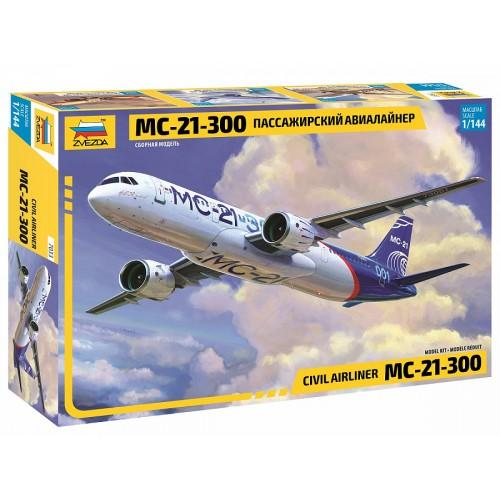 ZVD-7033 Zvezda 1/144 Irkut MC-21 Russian Jet Passenger Aitliner model kit