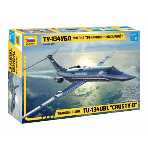 ZVD-7036 Zvezda 1/144 Tupolev Tu-134UBL Trainer Aircraft (crew training version for Tu-160 and Tu-22M3 bombers) model kit ... SALE ! ... DISCOUNT 10% !
