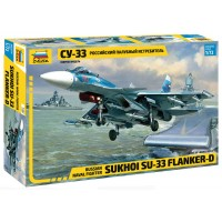 ZVD-7297 Sukhoi Su-33 Flanker-D Russian Naval fighter model kit