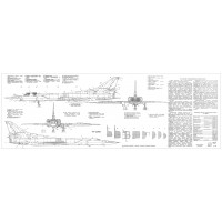 PLS-100103 1/100 Tupolev Tu-22M3 Backfire Full Size Scale Plans