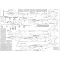 PLS-100106 1/100 Antonov An-124 Full Size Scale Plans (two A1 format pages)