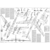 PLS-100107 1/100 Tupolev Tu-142 Full Size Scale Plans (two A1 format pages)
