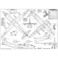 PLS-100108 1/100 Antonov An-12 Full Size Scale Plans (two A2 format pages)