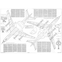 PLS-100109 1/100 Tupolev Tu-126 Full Size Scale Plans (two A1 format pages)