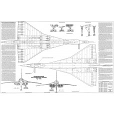 PLS-100113 1/100 Tupolev Tu-144 Full Size Scale Plans (two A1 format pages)