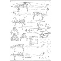 PLS-100114 1/100 Mil Mi-10 helicopter Full Size Scale Plans (two A2 format pages)