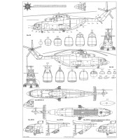 PLS-100118 1/100 Mil Mi-26 Halo Full Size Scale Plans (2xA2 format pages)