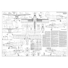 PLS-72007 1/72 Antonov An-3 Full Size Scale Plans (A2 format page)
