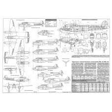 PLS-72011 1/72 Yakovlev BB-22/Yak-2/Yak-4 Full Size Scale Plans (A2 format page)