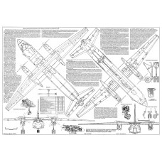 PLS-72012 1/72 Antonov An-26 Full Size Scale Plans (two A2 format pages)