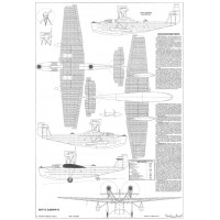 PLS-72013 1/72 Tupolev MDR-2/ANT-8 Full Size Scale Plans (A2 format page)