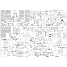 PLS-72015 1/72 Antonov An-72/An-74 Full Size Scale Plans (two A1 format pages)