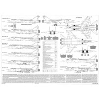 PLS-72016 1/72 Mikoyan MiG-31 Full Size Scale Plans (two A1 format pages)