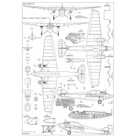 PLS-72026 1/72 Tupolev ANT-9 (PS-9) Full Size Scale Plans (A2 format page)