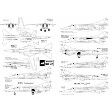 PLS-72030 1/72 Mikoyan MiG-27 Full Size Scale Plans (two A2 format pages)