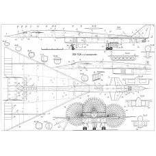 PLS-72033 1/72 XB-70 Valkyrie Full Size Scale Plans (two A1 format pages)
