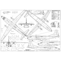 PLS-72035 1/72 Antonov An-8 Camp Full Size Scale Plans (A1 format page)