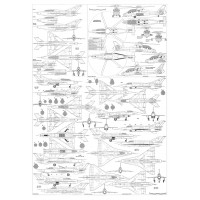 PLS-72036 1/72 Mikoyan MiG-21 late Full Size Scale Plans (two A1 format pages)