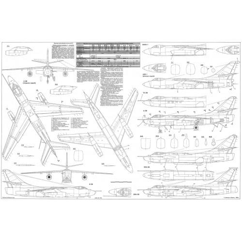 PLS-72038 1/72 Douglas A-3 Skywarrior Full Size Scale Plans (A1 format page)