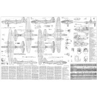 PLS-72039 1/72 Ilyushin DB-3F/Il-4 bomber Full Size Scale Plans (A1 format page)