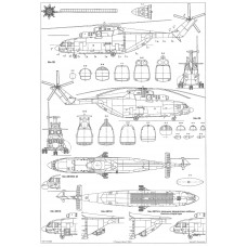 PLS-72042 1/72 Mil Mi-26 Halo Full Size Scale Plans (two A2 format pages)