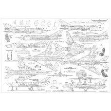 PLS-72044 1/72 Sukhoi Su-17 Full Size Scale Plans (two A2 format pages)