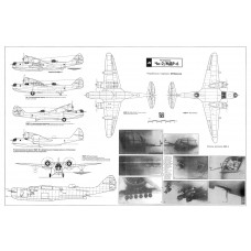 PLS-72049 1/72 MDR-6 / Che-2 flying-boat Full Size Scale Plans (A1 format page)