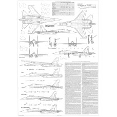 PLS-72059 1/72 Sukhoi Su-27 Flanker fighter Full Size Scale Plans (A1 page)
