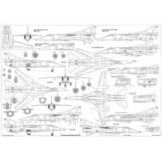 PLS-72063 1/72 Mikoyan Mig-23BN/Mig-27 Full Size Scale Plans (2xA2 format pages)