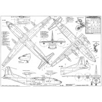 PLS-72071 1/72 Antonov An-12 Full Size Scale Plans (two A1 format pages)