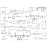 PLS-72072 1/72 Antonov An-22 Full Size Scale Plans (two A0 format pages)