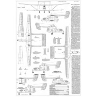 PLS-72078 1/72 WSK-Mielec M-15 jet-powered biplane Full Size Scale Plans (A2 p.)
