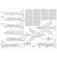 PLS-72079 1/72 English Electric Lightning fighter Full Size Scale Plans (2xA2 p)