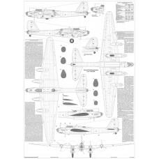 PLS-72080 1/72 Petlyakov Pe-8 Soviet WW2 bomber Full Size Scale Plans (2xA1 p)