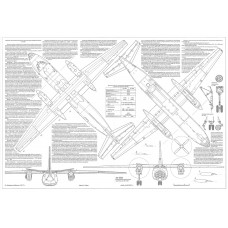 PLS-72081 1/72 Antonov An-30 Clank Full Size Scale Plans (2xA2 format pages)