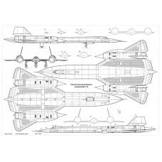 PLS-72089 1/72 Lockheed SR-71 Blackbird reconnaissance aircraft (2xA2 format p.)