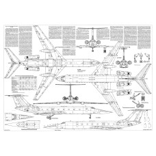 PLS-72091 1/72 Tupolev Tu-134 jet airliner Full Size Scale Plans (2xA1 p)