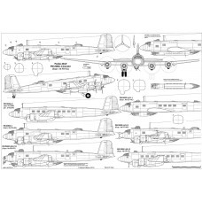 PLS-72094 1/72 Focke-Wulf Fw 200 Condor long-range reconnaissance and bomber Full Size Scale Plans (2xA2 p)
