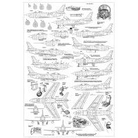 PLS-72096 1/72 North American F-86D Sabre Fighter Full Size Scale Plans (1xA2 p)