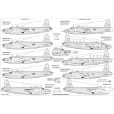 PLS-72099 1/72 Vickers Wellington WW2 bomber Full Size Scale Plans (2xA2 p)