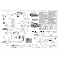 PLS-72100 1/72 Dornier Do 17 bomber and Yak-30 jet trainer Full Size Scale Plans (2xA2 p)