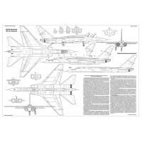 PLS-72103 1/72 North American A-5 Vigilante bomber Full Size Scale Plans (1xA2)