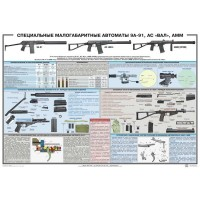 PTR-003 Special small-size assault rifles 9A-91, AS VAL, AMM Russian original military poster (size 39 inch x 27 inches)