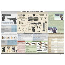 PTR-009 MP-443 Grach (Yarygin pistol) Russian poster (size 39 inch x 27 inches)