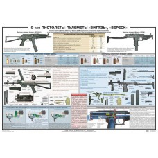 PTR-015 Vityaz-SN and SR-2 Veresk submachine gun Russian poster (39x27 inches)